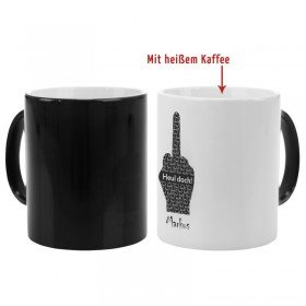 Schwarze Magic Tasse - Fuck you