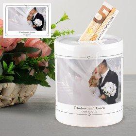 Spardose - Hochzeit mit Wunschfoto