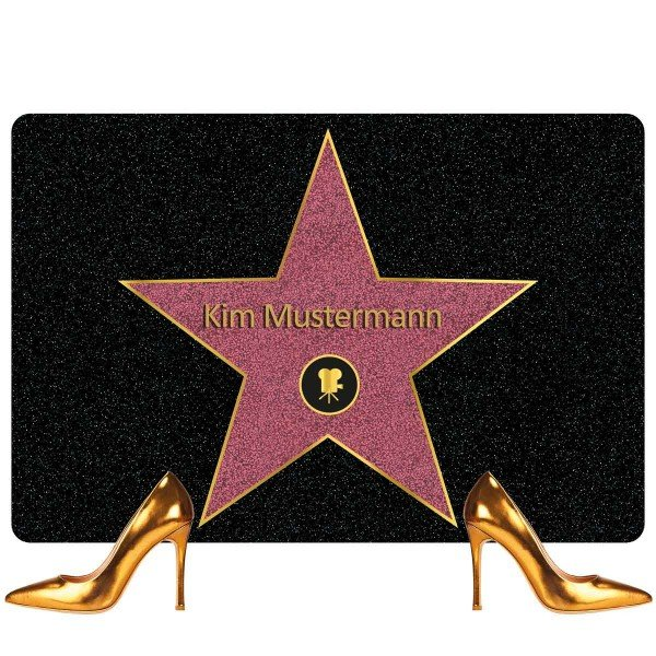 Fußmatte - Walk of Fame mit Namen
