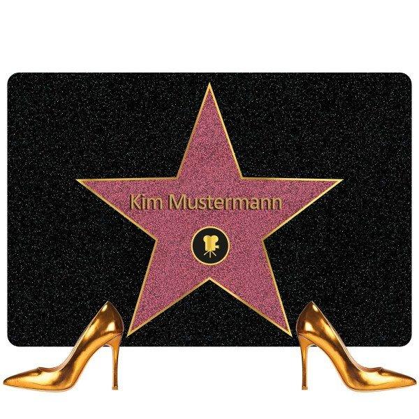 Fußmatte - Walk of Fame mit Namen