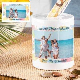 Spardose - Urlaubskasse mit Foto