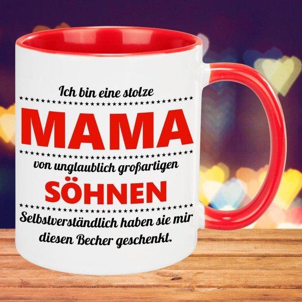 Tasse - stolze Mama