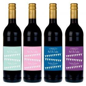 Weinflasche mit persönlichem Etikett