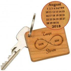 Schlüsselanhänger aus Holz - Unendlichkeit