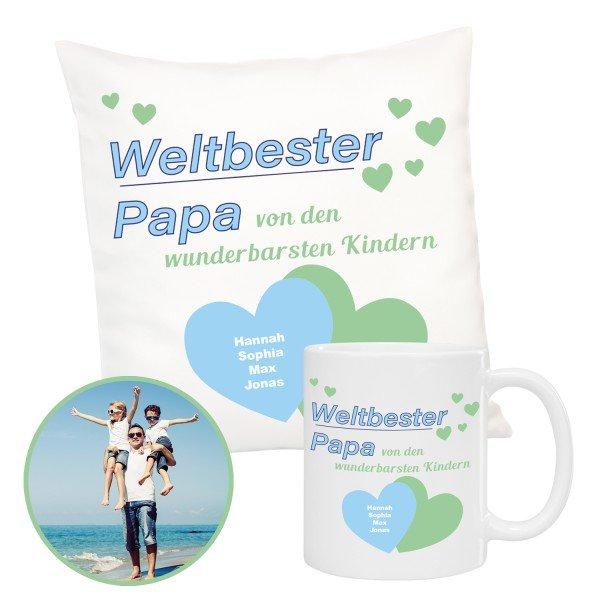 Geschenkset - Weltbester Papa mit Personalisierung