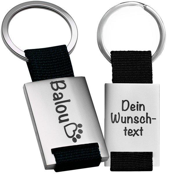 Schlüsselanhänger Hund / Katze mit Name