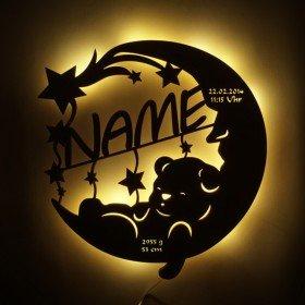 Schlummerlicht Mond mit Name