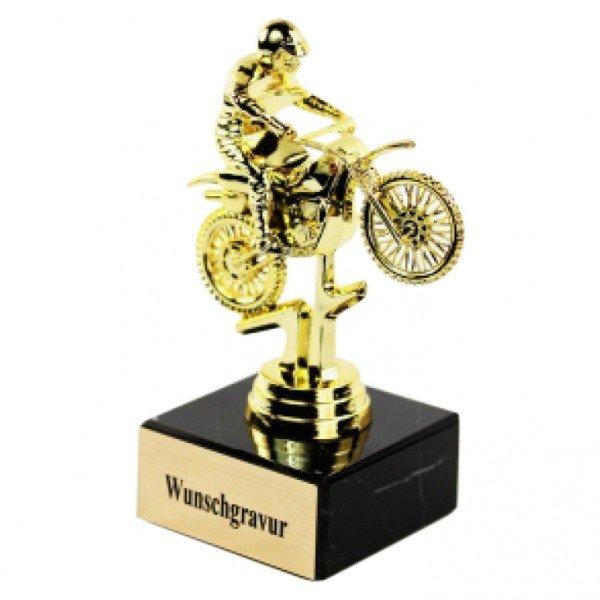 Pokal Motorrad mit Gravur