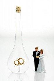 Edelglasflasche Hochzeit