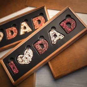 Schokolade für Papa mit Personalisierung