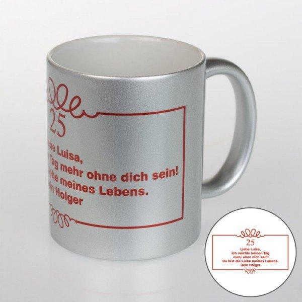 Kaffeebecher in Silber